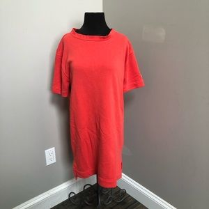 Nike Modern Short Sleeve French Terry Dress Pink M